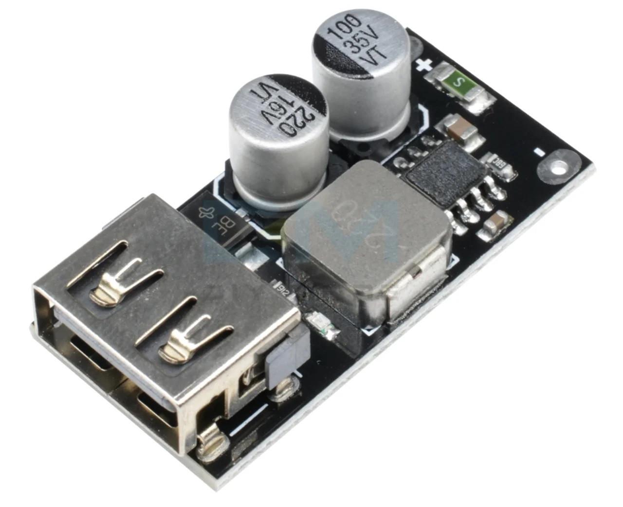 Понижуючий модуль перетворювач USB DC-DC 6-32В - 5В(3-12В) QC3.0 QC2.0