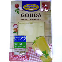 Сыр Гауда нарезка Ser Gouda w Plastrach 500 г