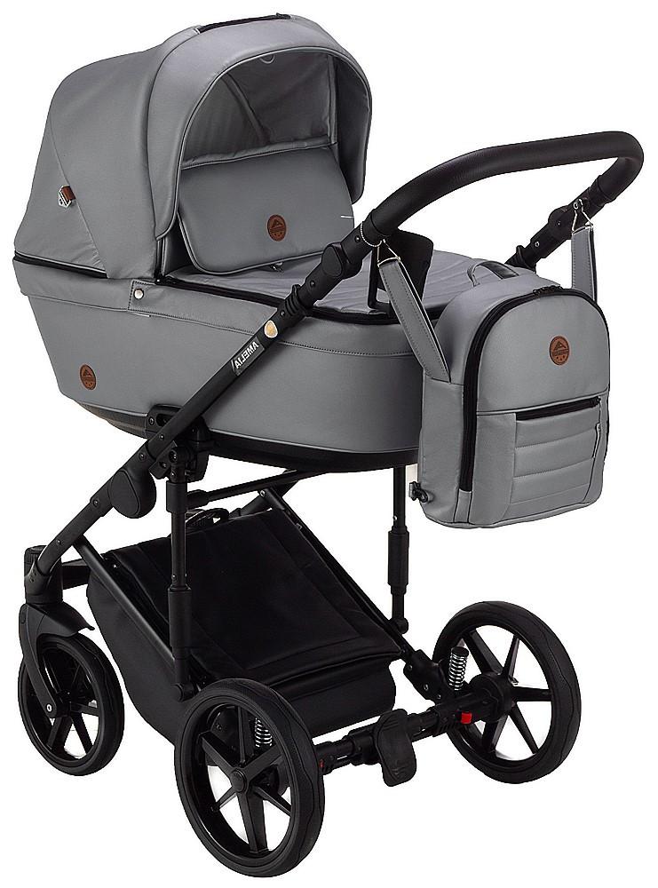Детская универсальная коляска 2 в 1 Adamex Amelia кожа 100% SM3