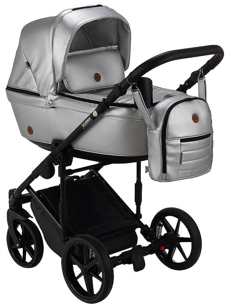 Детская универсальная коляска 2 в 1 Adamex Amelia кожа 100% SM13