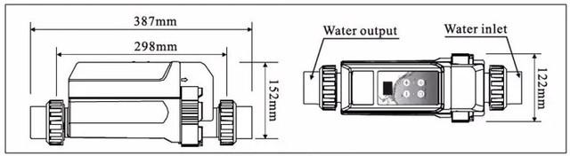 Габаритные размеры хлоргенераторов Bridge серии EC