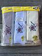 Дитячі колготи принт квітка бавовна KBS для дівчаток 7 років 6 шт. в уп. мікс із 3х кольорів, фото 3