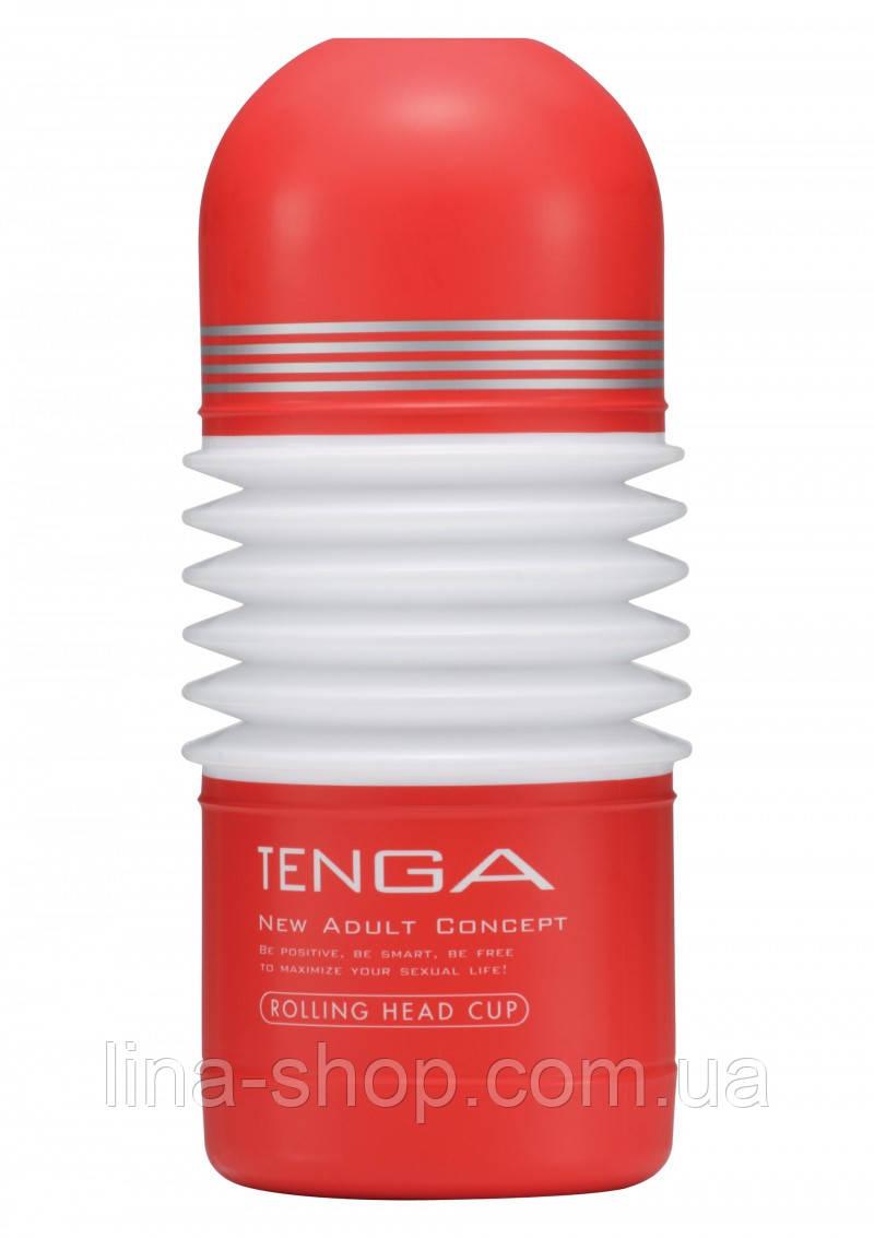Мастурбатор Tenga Rolling Head Cup, 15х4,5 см