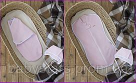 """Євро пелюшки новонародженій дівчинці """"Капітоні"""" ніжно рожевого кольору, для діток 0-3 міс."""