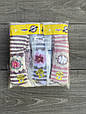 Дитячі колготи KBS бавовна принт квітка-полоска для дівчаток 7 років 6 шт. в уп. мікс 3х кольорів, фото 2