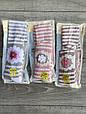 Дитячі колготи KBS бавовна принт квітка-полоска для дівчаток 7 років 6 шт. в уп. мікс 3х кольорів, фото 3
