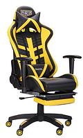 Крісло VR Racer BattleBee чорний / жовтий