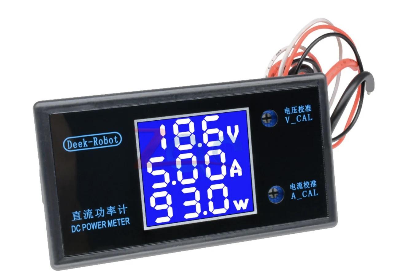 Вольтметр/амперметр/ваттметр DC 0-100В 10А 250Вт