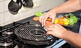 Сковорода гриль-газ Westorm с мраморным антипригарным покрытием 33 см, фото 4