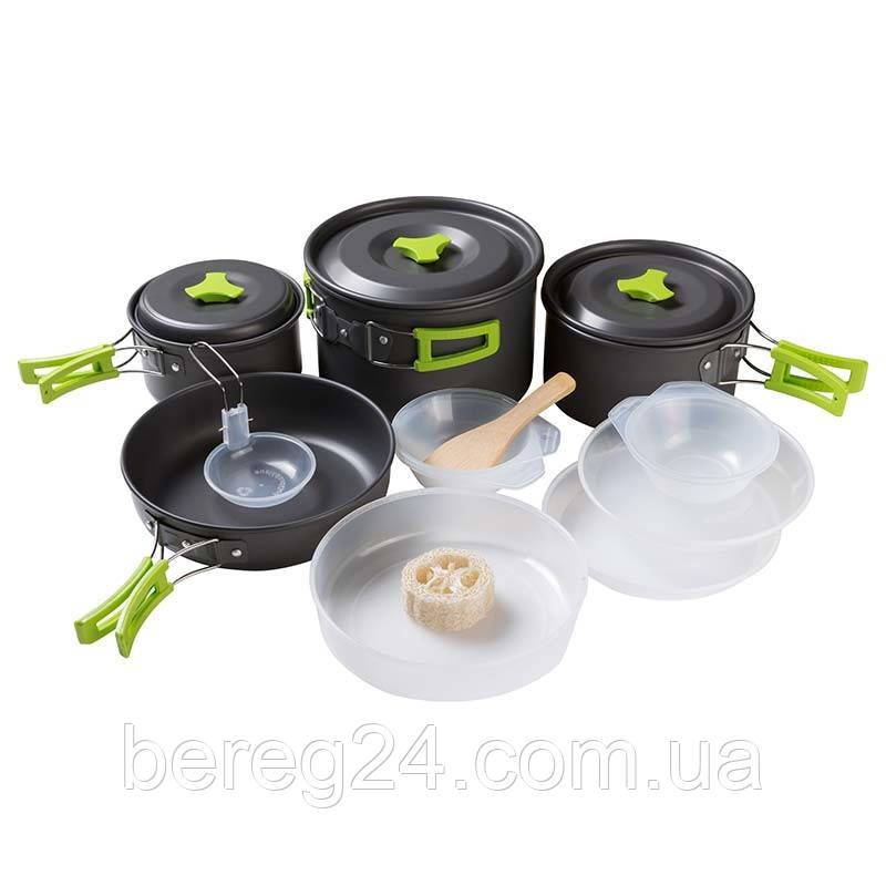 Набор туристической посуды из алюминия на 4-5человек