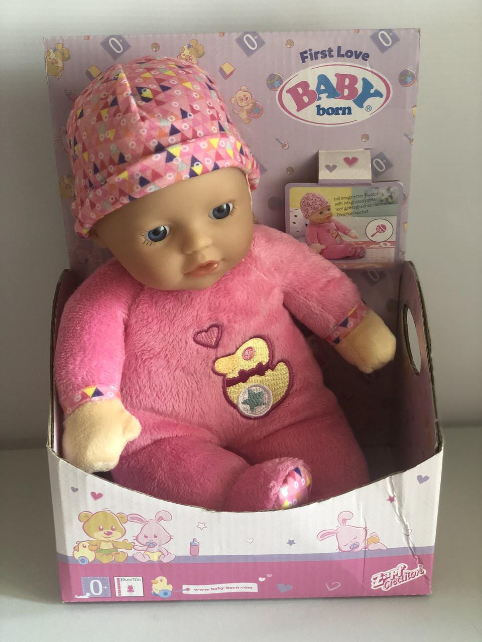 Уценка кукла  Zapf BABY BORN FIRST LOVE - ЛЮБИМАЯ КРОХА (30 см, с погремушкой внутри)