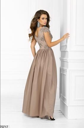 Длинное нарядное платье цвет бежевый Размеры: 42.44.46., фото 2