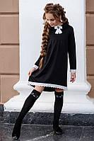 Асимметричное школьное платье черное