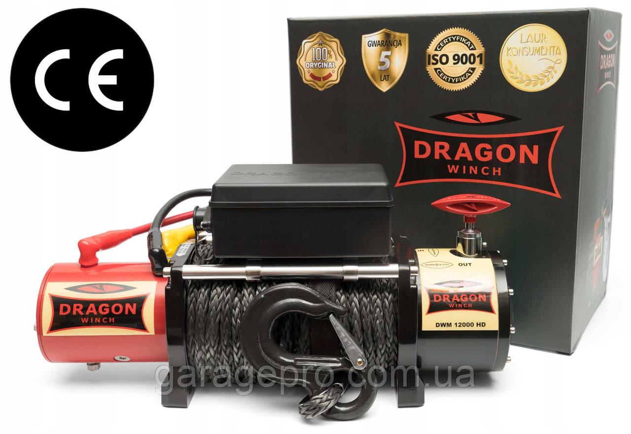 Электрическая лебедка Dragon Winch Maverick 12000HDs (синтетический трос)