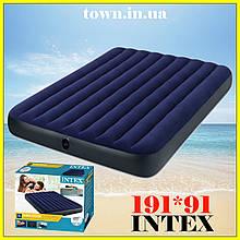 Надувной одноместный матрас Intex 99*191*25, в палатку, пляжный, для сна, кемпинга