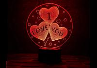 "3D светильник ""I love you"" (1091)"