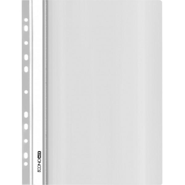 "Папка-швидкозшивач А4 Economix з перфорацією, фактура ""глянець"", біла (E31510-14)"