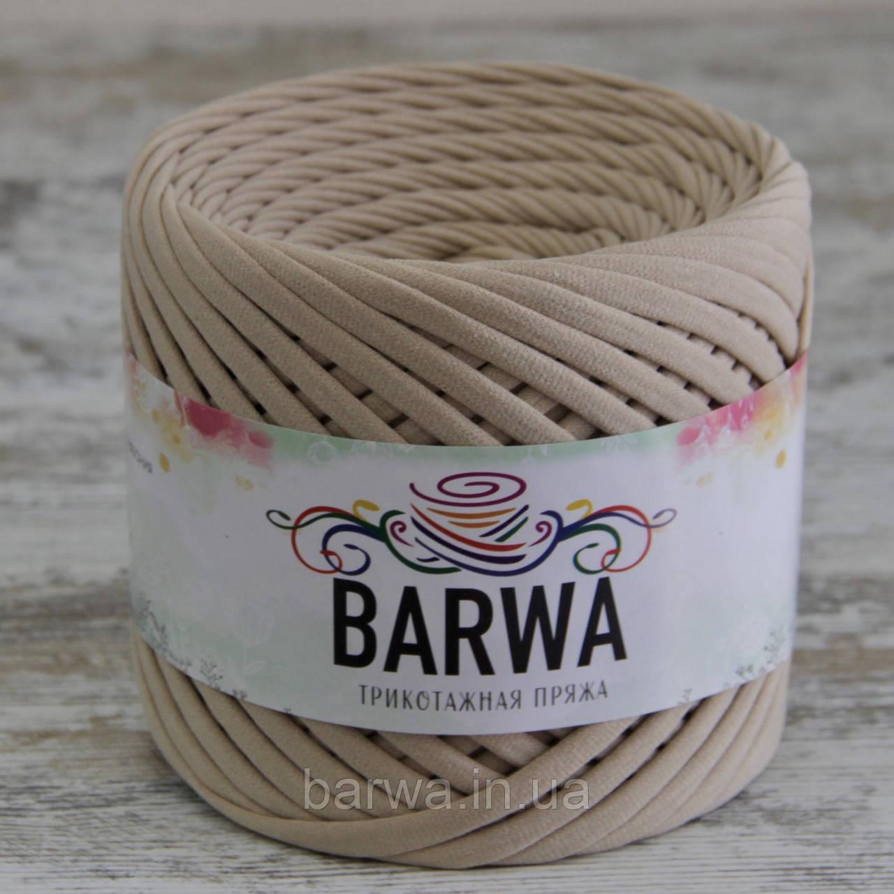 Трикотажная пряжа BARWA light 5-7 мм, Имбирь (ginger)