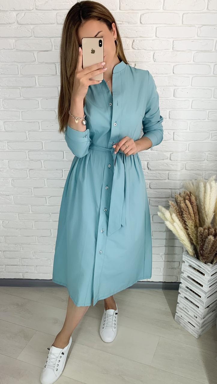 Женское платье из коттона 3 расцветки