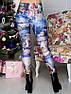 Женские лосины с принтом Рождество Размер 40 - 50, фото 2