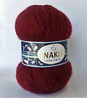 Пряжа Nako «Mohair Delicate» № 6110/999 (Нако Мохер Деликат) Бордовый