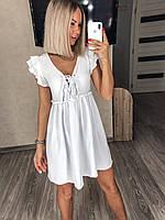 Платье женское легкое стильное белый, бежевый, лиловый 42-44,46-48