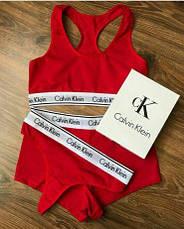 Комплект женского нижнего белья стринги + топ + шортики Calvin Klein, фото 2