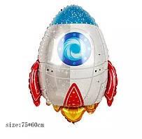 Куля фольга фігурки Космічна ракета B0860