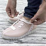 Красивые женские кроссовки светлые, фото 2