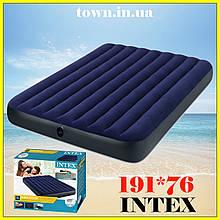 Надувной одноместный матрас Intex 76*191*25, в палатку, пляжный, для сна, кемпинга