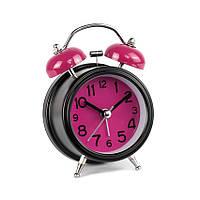 Часы настольные с будильником À linfini Моен Цифры и Циферки 12 х 8 х 5 см Черный 22182, КОД: 1769109