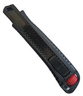 Нож металлический усиленный 18 мм сегментированное лезвие нагрузка 60 кг HAISSER 23504