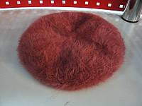 Берет женский зимний ангоровый терракотового цвета