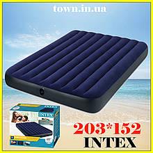 Надувной двухместный матрас Intex 152*203*25, двуспальный, в палатку, пляжный, для сна, кемпинга