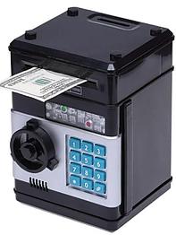 Копилка сейф, детский банкомат с кодовым замком NUMBER BANK