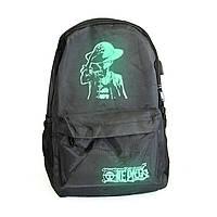 🔝 Портфель для подростков с USB зарядкой One Piece, стильный светящийся рюкзак для мальчиков  | 🎁%🚚