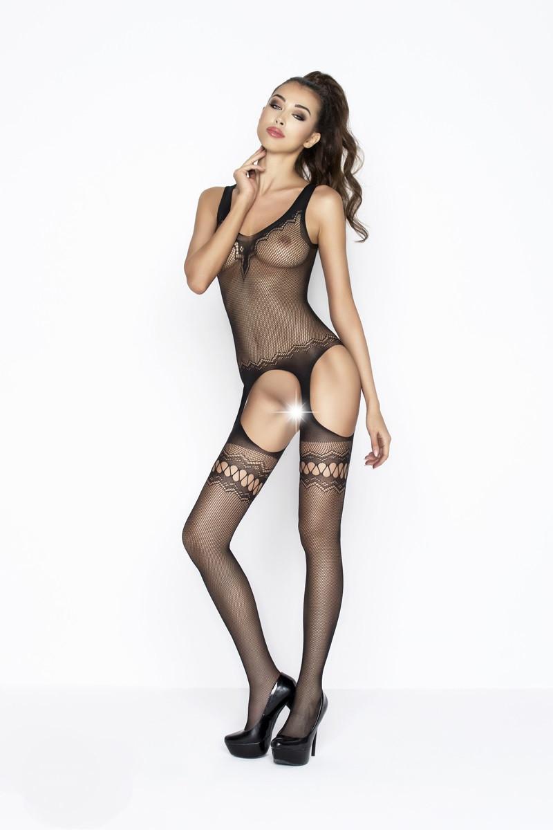 Сексуальный боди-комбинезон женский чёрный (S/L)