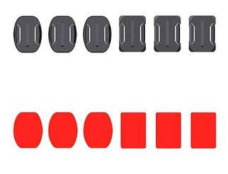 Набор платформ 6в1 с липучкой для Gopro (Curved Adhesive Mount), SJCAM, Xiaomi