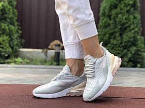 Женские кроссовки Nike Air Max 270 (серо-розовые) 9645