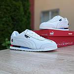 Мужские кроссовки Puma Roma BMW (белые) 10221, фото 4