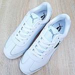 Мужские кроссовки Puma Roma BMW (белые) 10221, фото 5