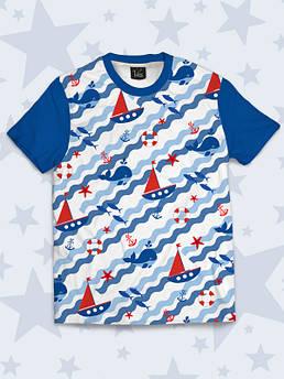 Дитяча футболка Кораблики