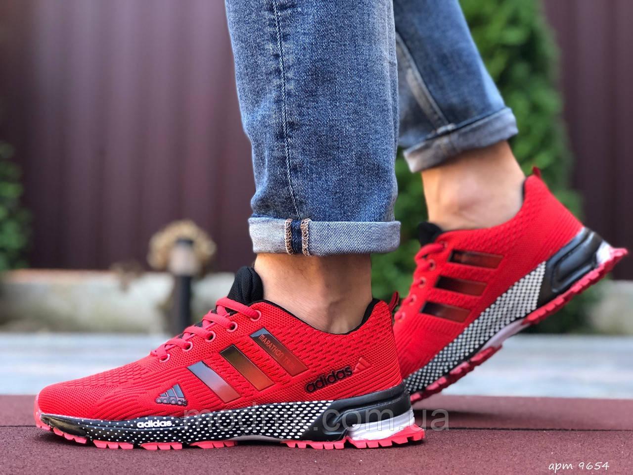 Мужские кроссовки Adidas Marathon TR 26 (красные) 9654