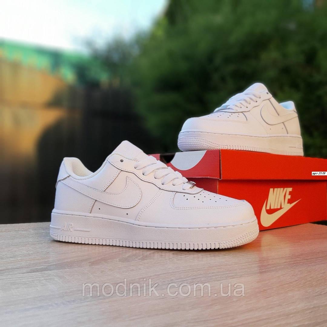Женские кроссовки Nike Air Force (белые) 20170
