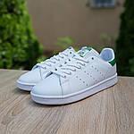 Женские спортивные кеды Adidas Stan Smith (бело-зеленые) 20172, фото 5