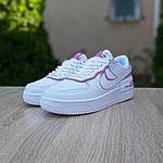 Женские кроссовки Nike Air Force 1 Shadow (бело-розовые) 20180, фото 2