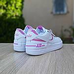 Женские кроссовки Nike Air Force 1 Shadow (бело-розовые) 20180, фото 5