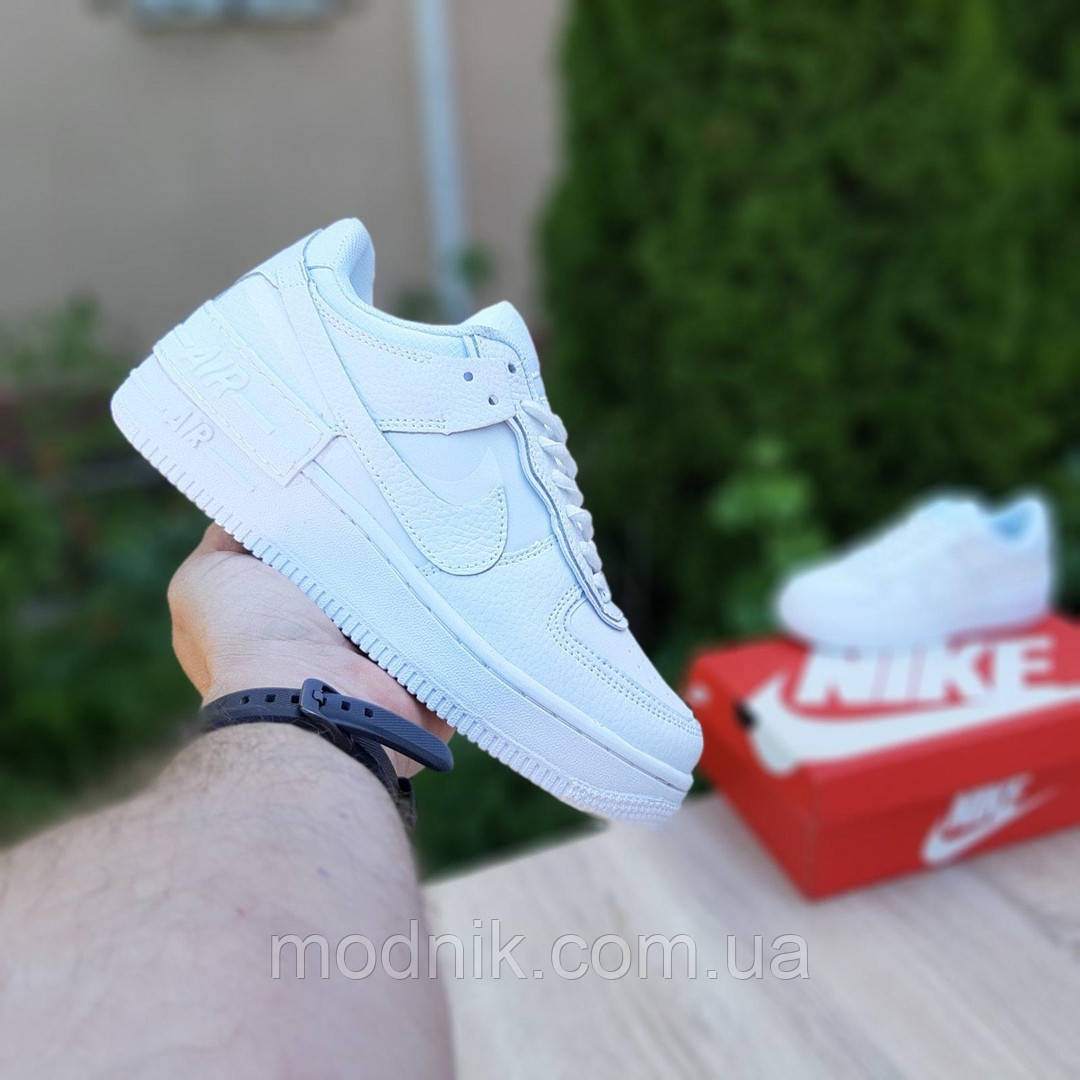 Женские кроссовки Nike Air Force 1 Shadow (белые) 20182