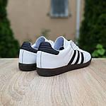 Мужские кроссовки Adidas Samba (бело-черные) 10229, фото 9