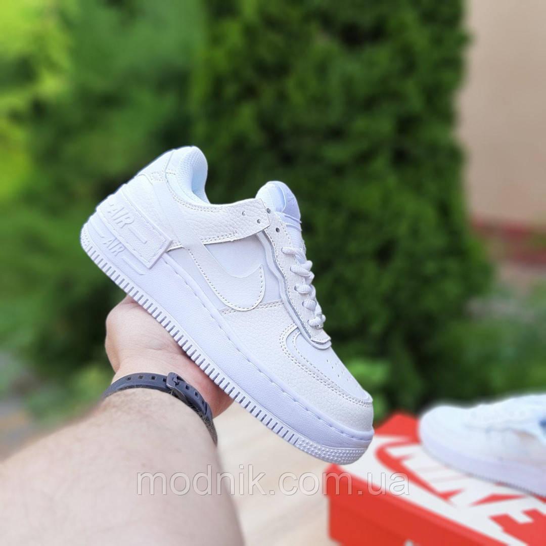Женские кроссовки Nike Air Force 1 Shadow (белые) 20186